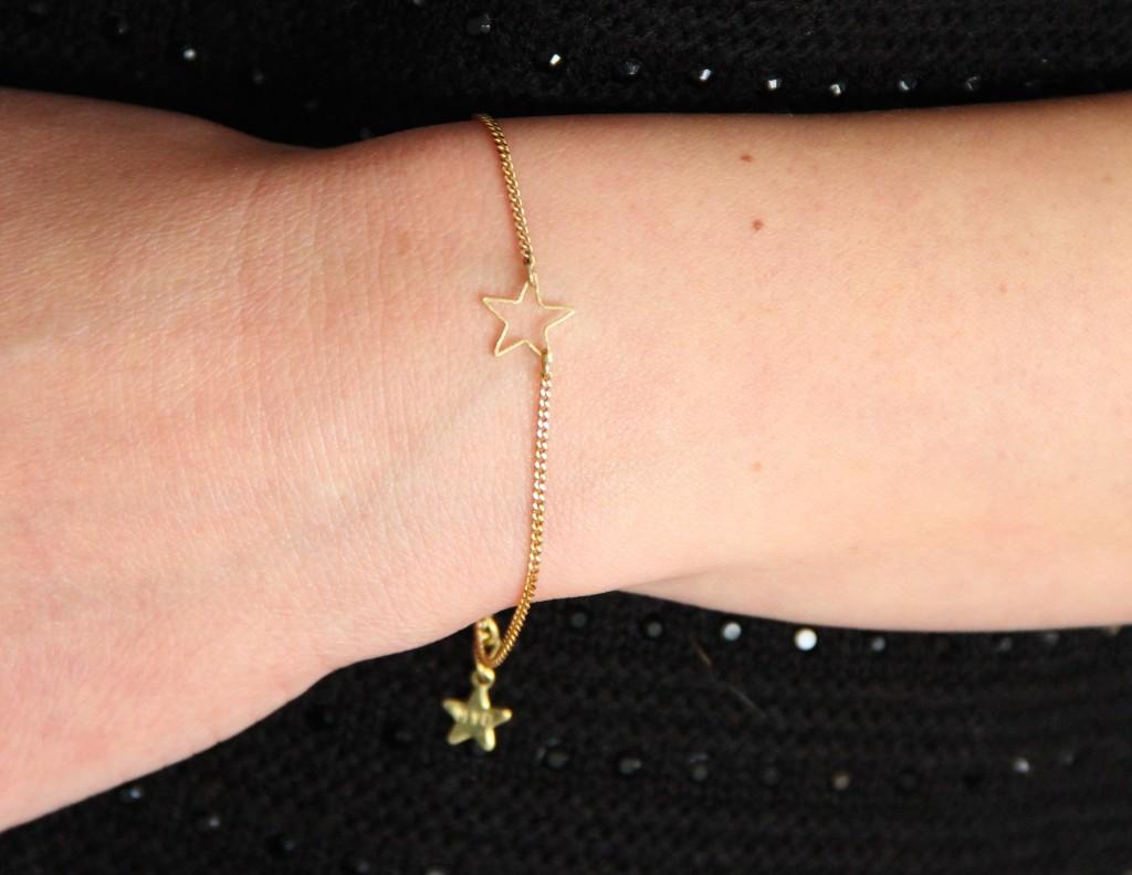 Bracelet étoile - Collection Poudre de Soleil Myo jewel- Bijoux - Laiton brut doré - Créatrice Nantes