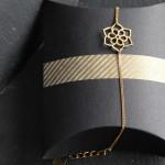 Bracelet fleur de lotus - Collection Poudre de Soleil Myo jewel- Bijoux - Laiton brut doré - Créatrice Nantes